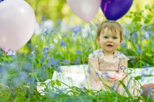 Bluebell and baby photography in Horsham West Sussex