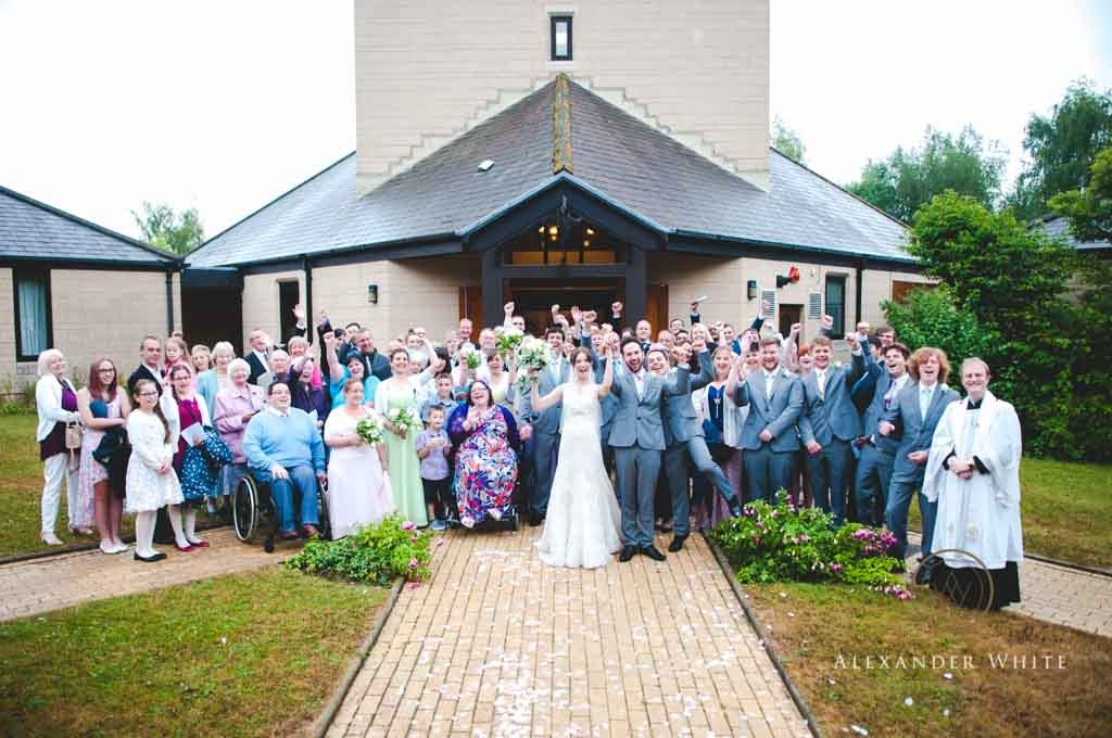 Wedding Photographer in Horsham shooting a wedding at StMarks church in West Sussex (4)