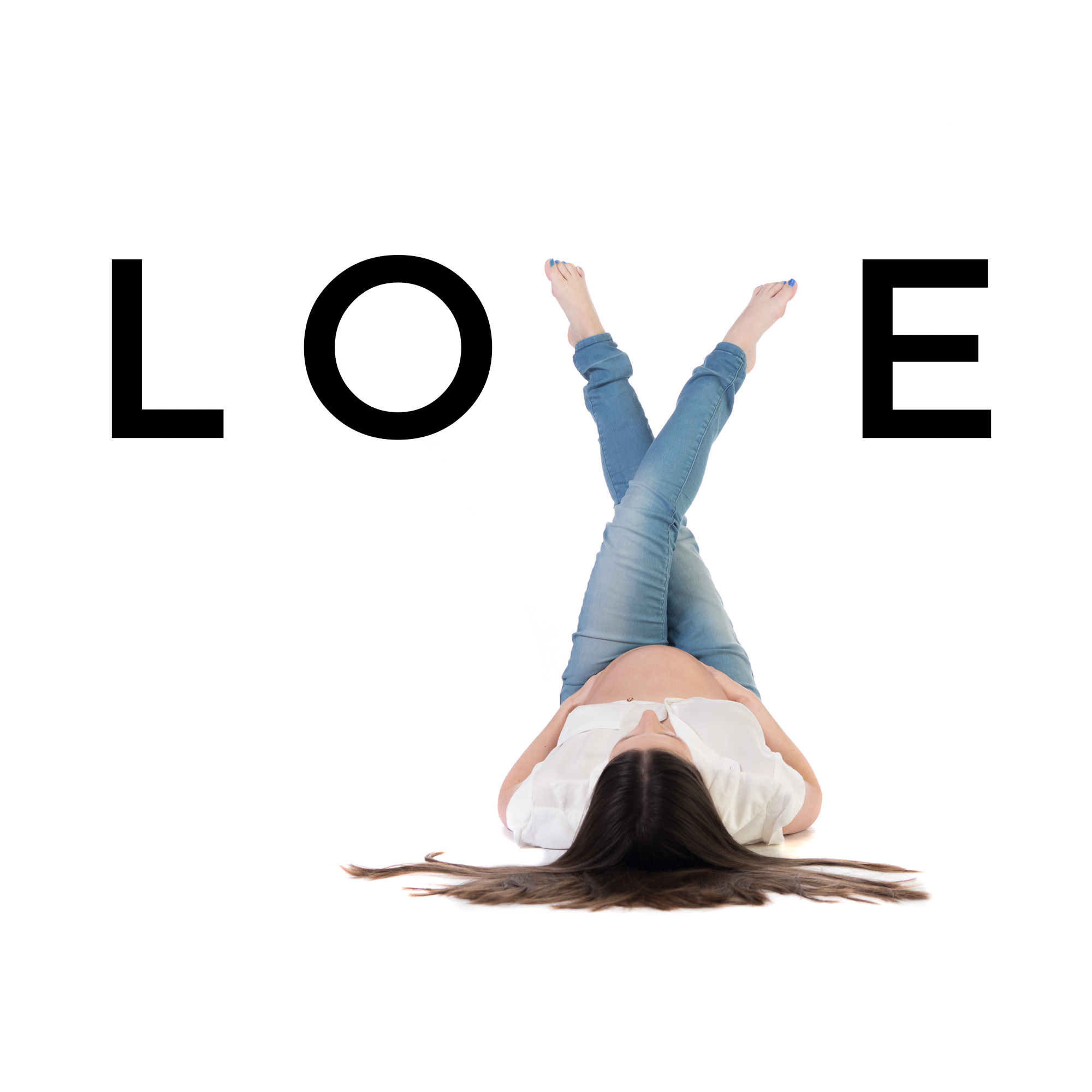 LOVE Maternity Photo spelling out the word love