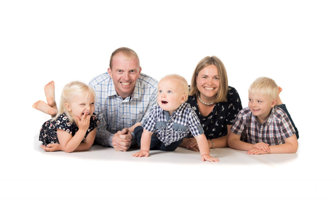 Studio Family Photo of a family of five
