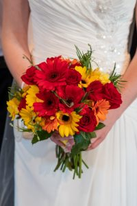 wedding photo of the bride's bouquet